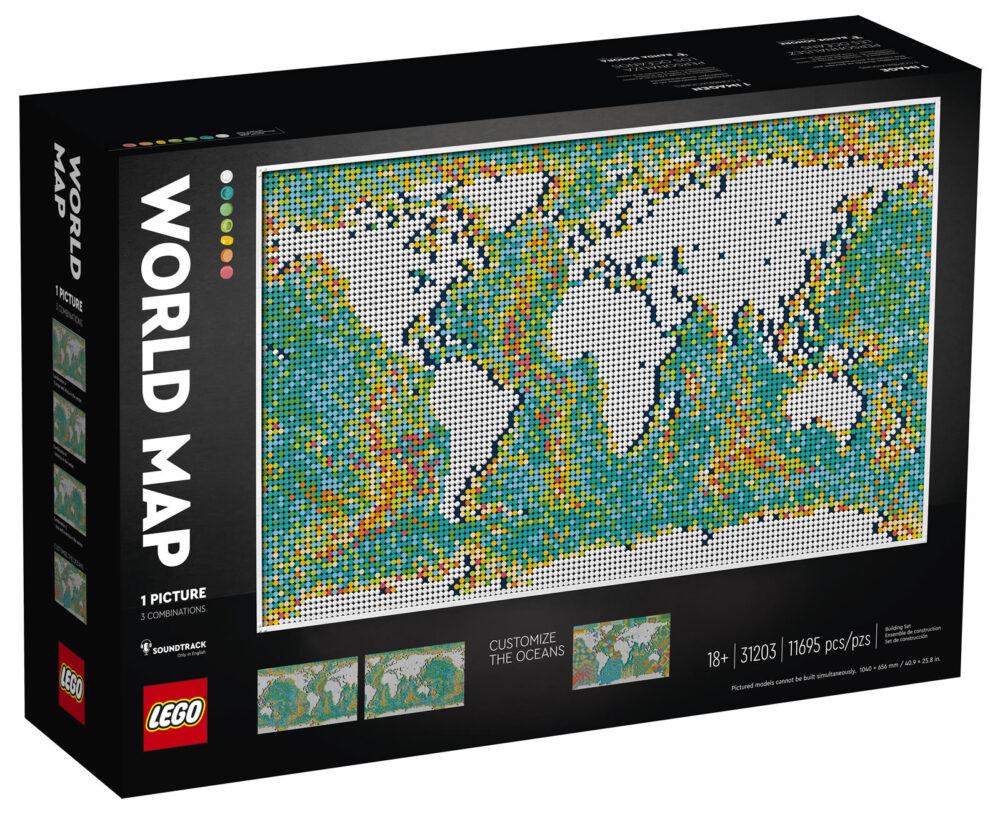 LEGO Art 31203 Weltkarte