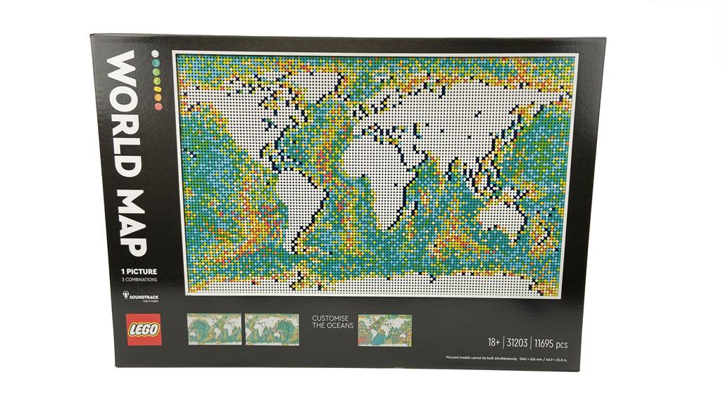 LEGO Art 31203 World Map Der Karton
