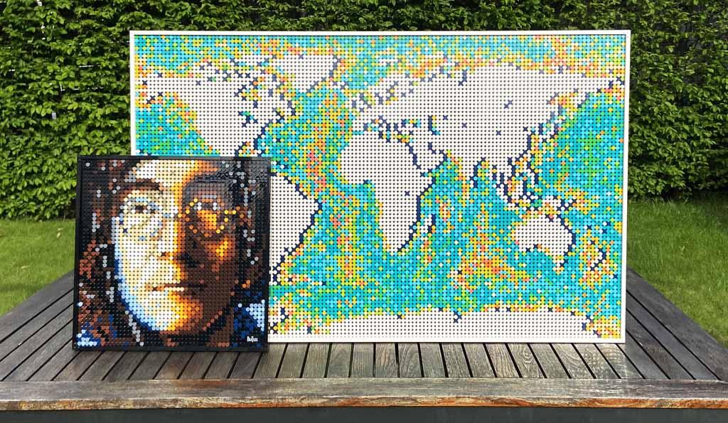 LEGO Art 31203 World Map John und die Welt