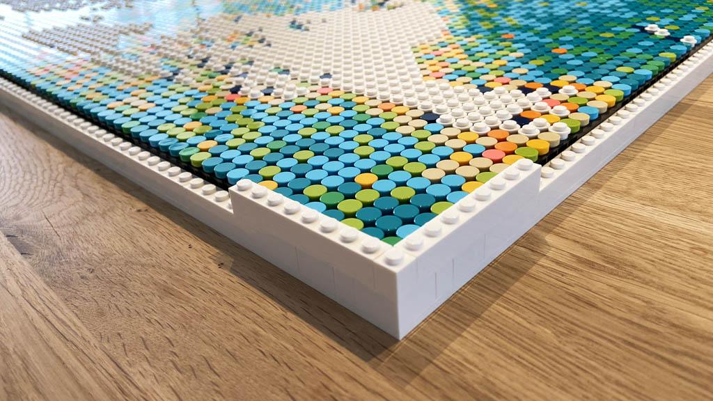 LEGO Art 31203 World Map der Rahmen entsteht