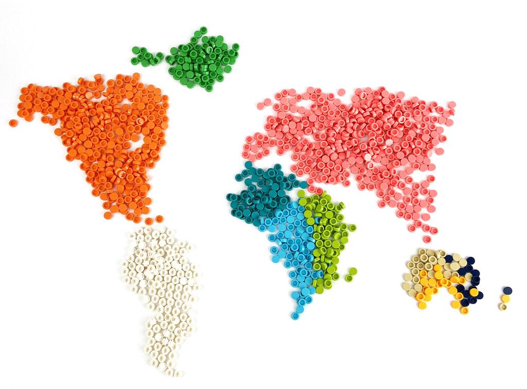 LEGO Art 31203 World Map die übrigen Steine