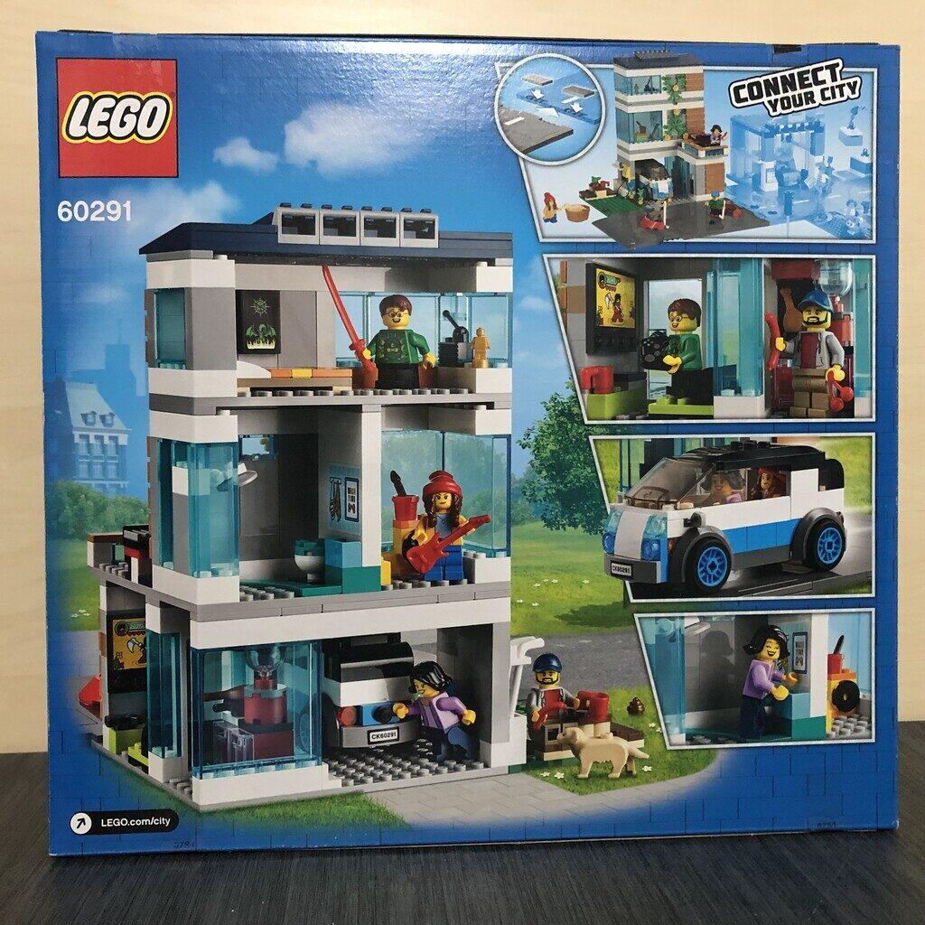 LEGO City 60291 Modernes Familienhaus Box von der Rückseite