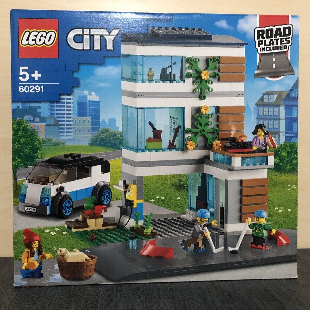 LEGO City 60291 Modernes Familienhaus Box von vorne