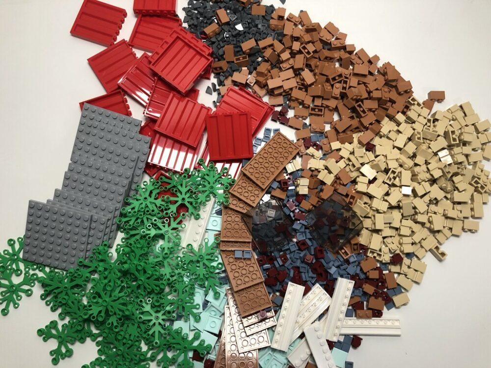 Viele Einzelsteine aus der Pick a Brick-Wand im LEGO Store Köln