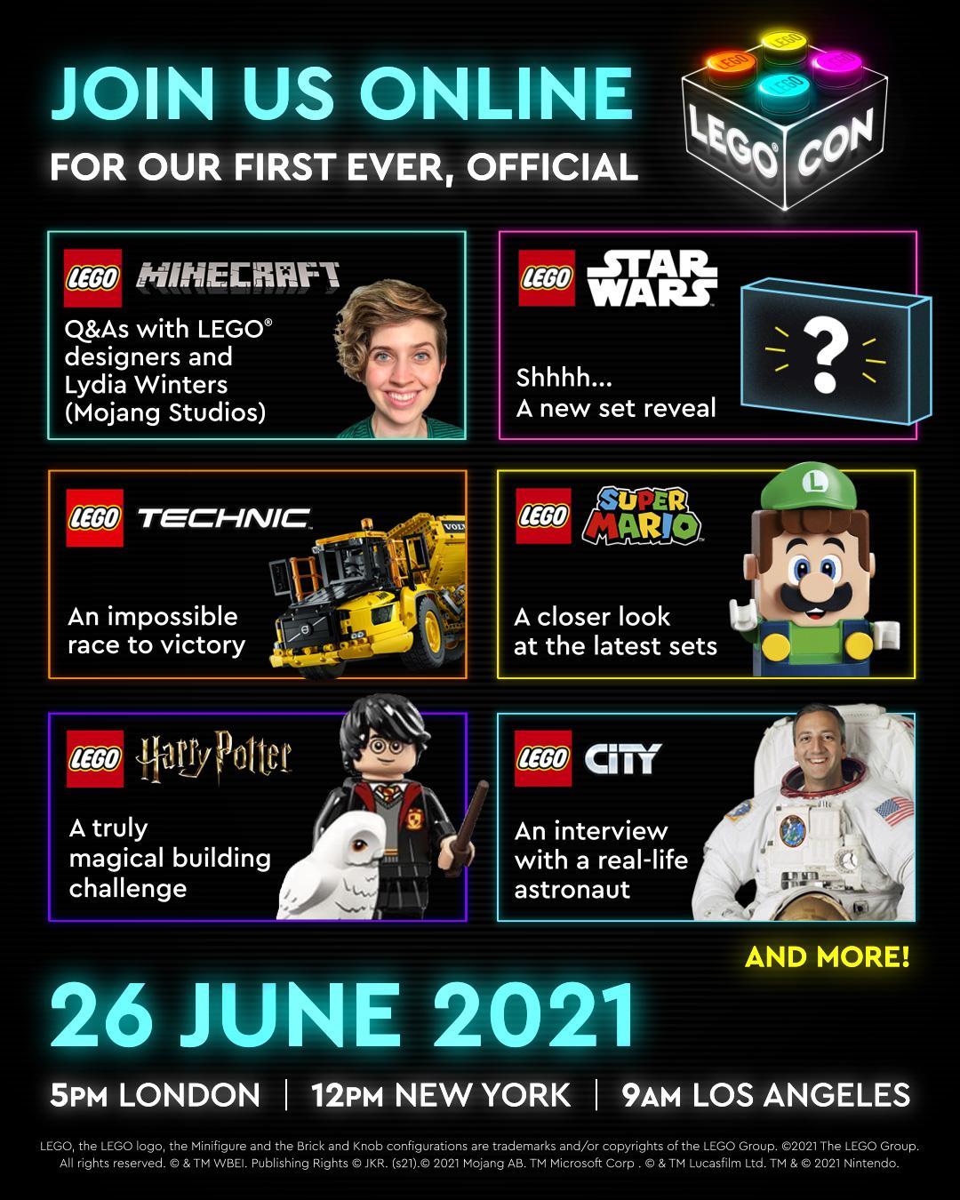 Das LEGO Con 2021 Programm