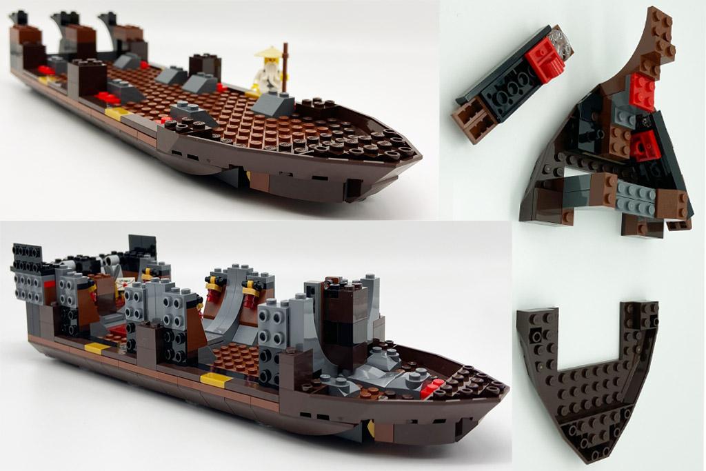 LEGO Ninjago 70618 Destiny´s Bounty Der Schiffsrumpf