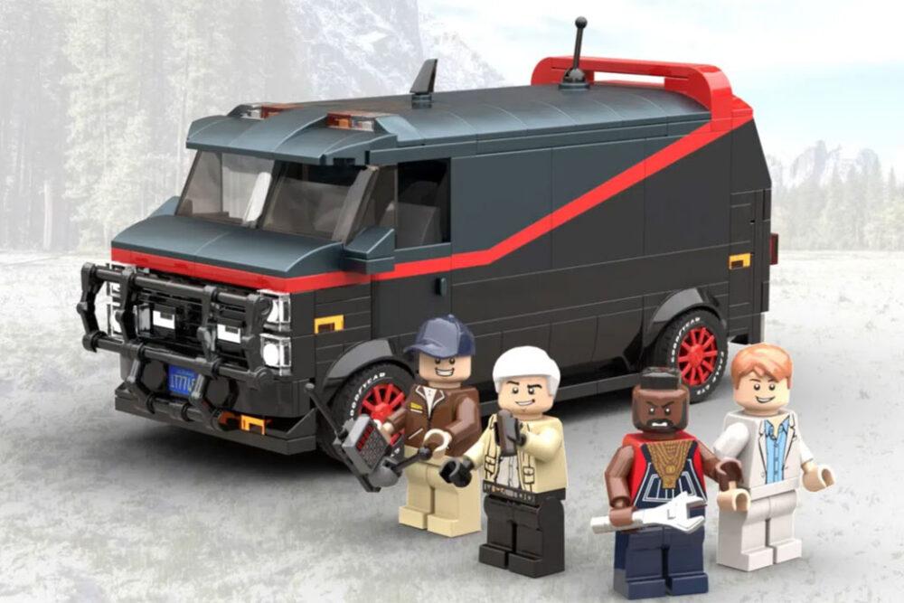 LEGO A-Team Van mit Crew