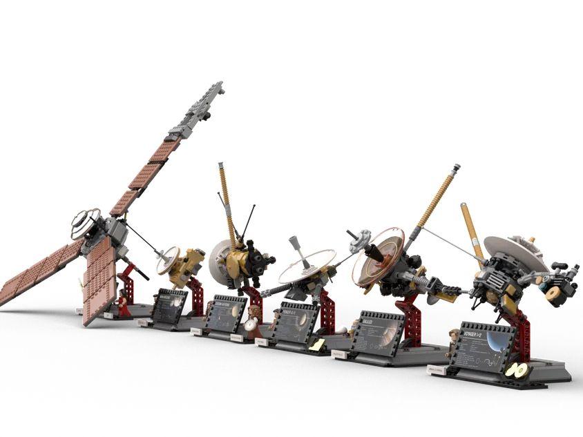 LEGO Ideas NASA Projekt: Sammlung von Raumsonden