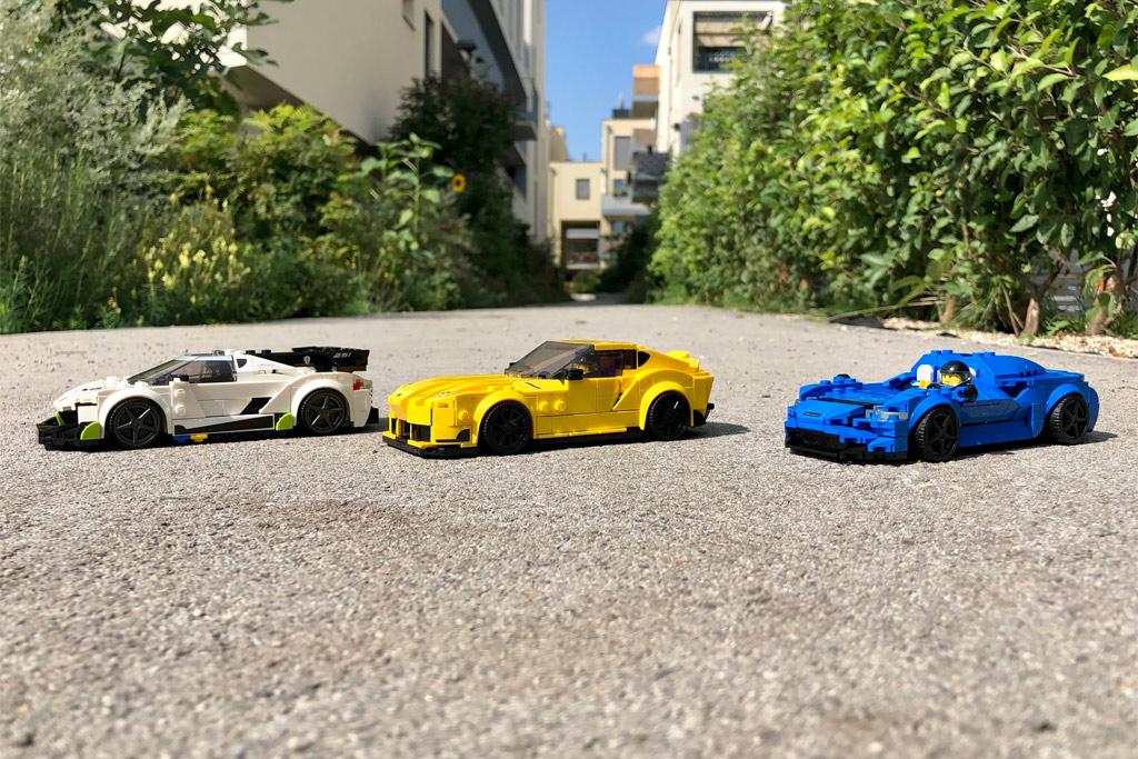 LEGO Speed Champions 76900 Koenigsegg Jesko, 76901 Toyota GR Supra und 76902 McLaren Elva
