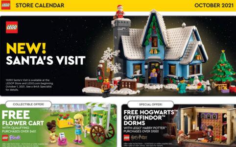 LEGO US Store Kalender Oktober 2021